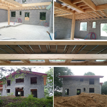 Couverture et plancher d'étage
