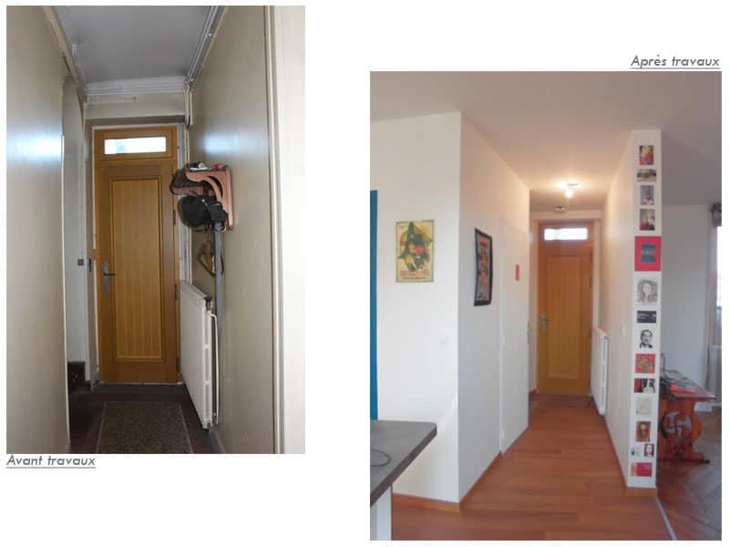 Couloir d'entrée - Avant/Après